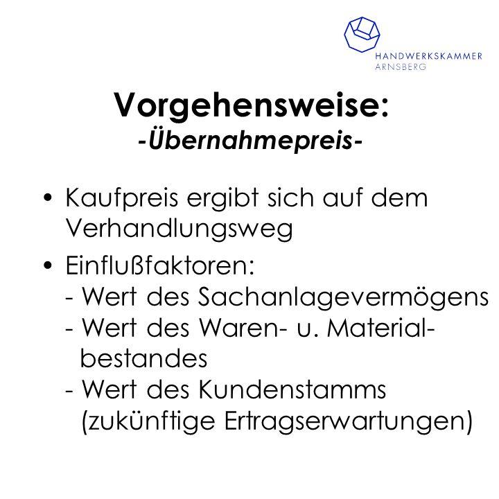 Vorgehensweise: -Weitere Investitionskosten- Gründe: - Investitionsstau - Erweiterung/Umstellung des Leistungsprogramms