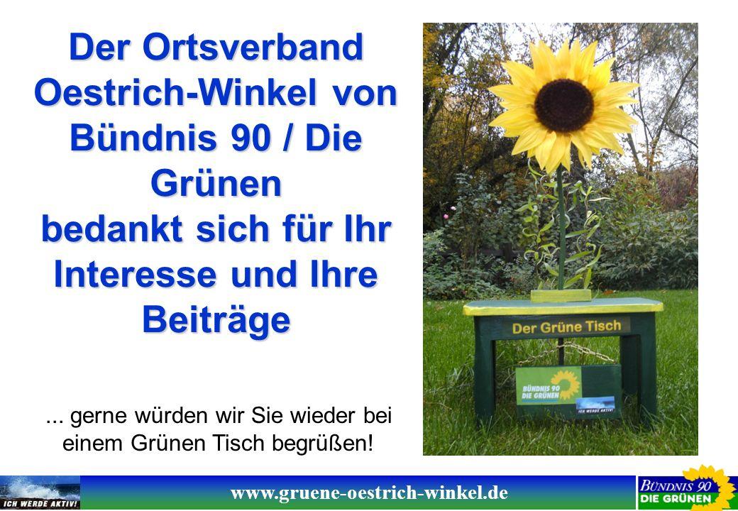 www.gruene-oestrich-winkel.de Der Ortsverband Oestrich-Winkel von Bündnis 90 / Die Grünen bedankt sich für Ihr Interesse und Ihre Beiträge...