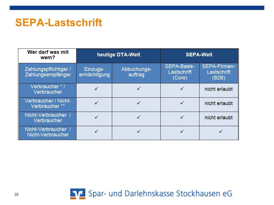 SEPA-Lastschrift 28
