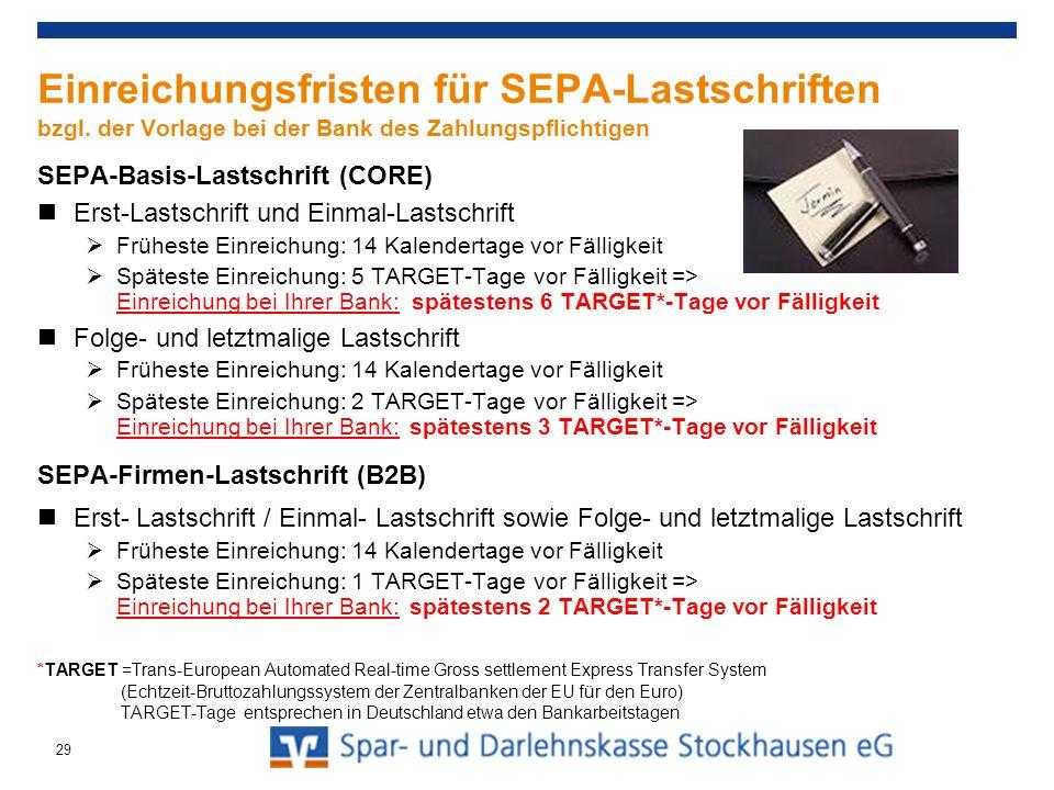 Agenda Allgemeine Informationen und aktueller Stand SEPA-Überweisung SEPA-Lastschriften SEPA-Basis-Lastschriften SEPA-Firmen-Lastschriften Umgang in der Praxis / Handlungsempfehlungen 30