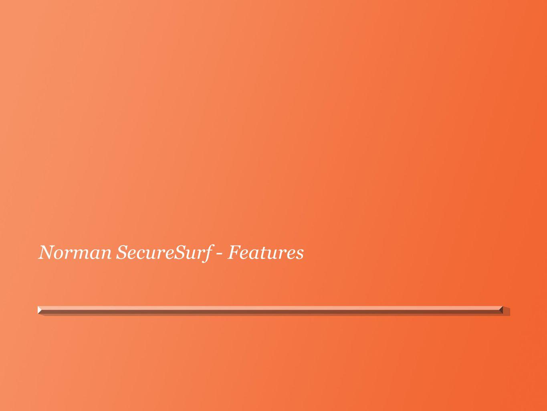 Norman SecureSurf - Features