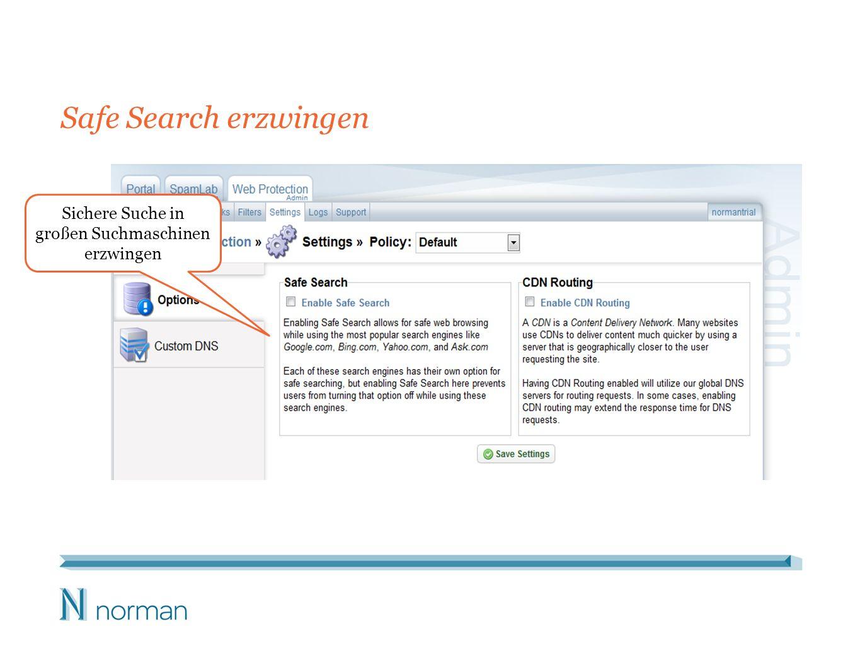 Safe Search erzwingen Sichere Suche in großen Suchmaschinen erzwingen