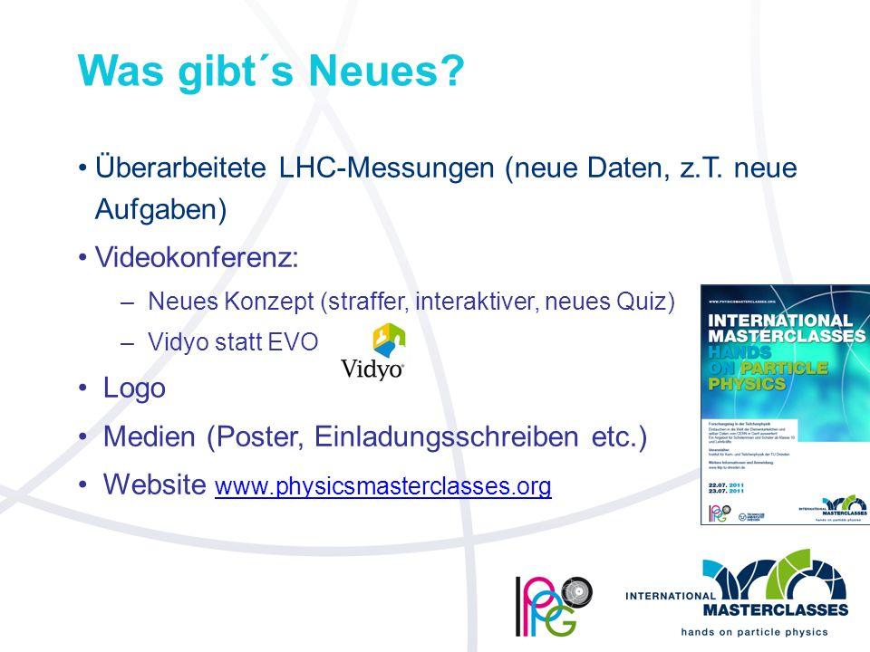 Was gibt´s Neues. Überarbeitete LHC-Messungen (neue Daten, z.T.
