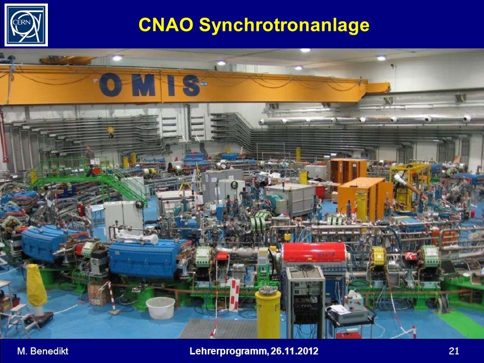 21 CNAO Synchrotronanlage M. BenediktLehrerprogramm, 26.11.2012
