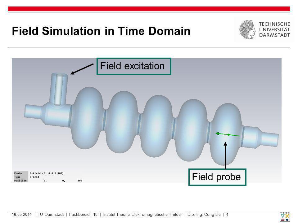 Field Simulation in Time domain Probe Time Signal 18.05.2014 | TU Darmstadt | Fachbereich 18 | Institut Theorie Elektromagnetischer Felder | Dip.-Ing.