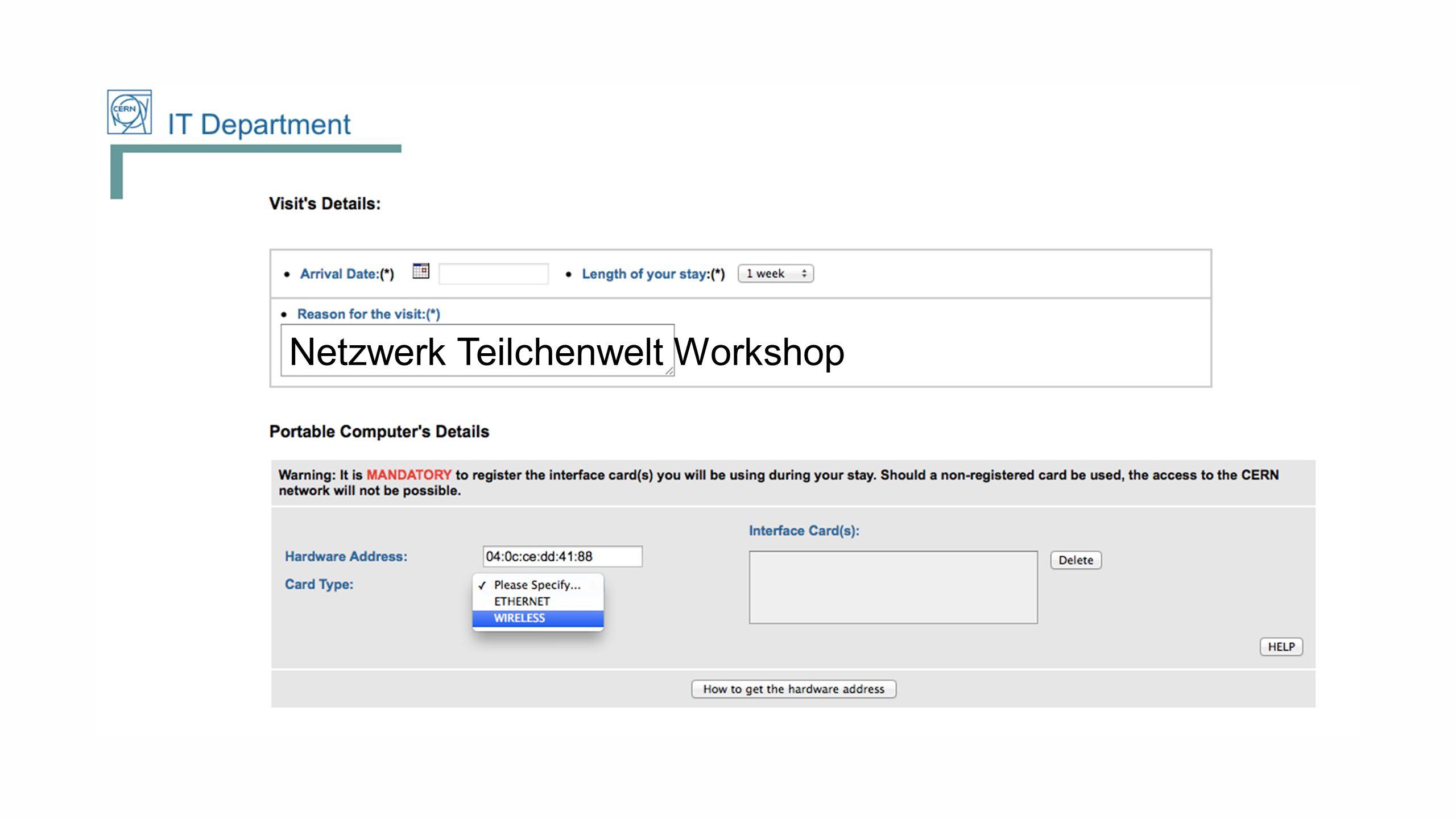 Netzwerk Teilchenwelt Workshop
