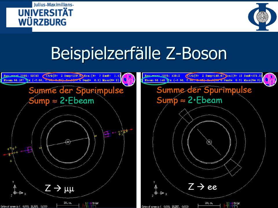 Beispielzerfälle Z-Boson