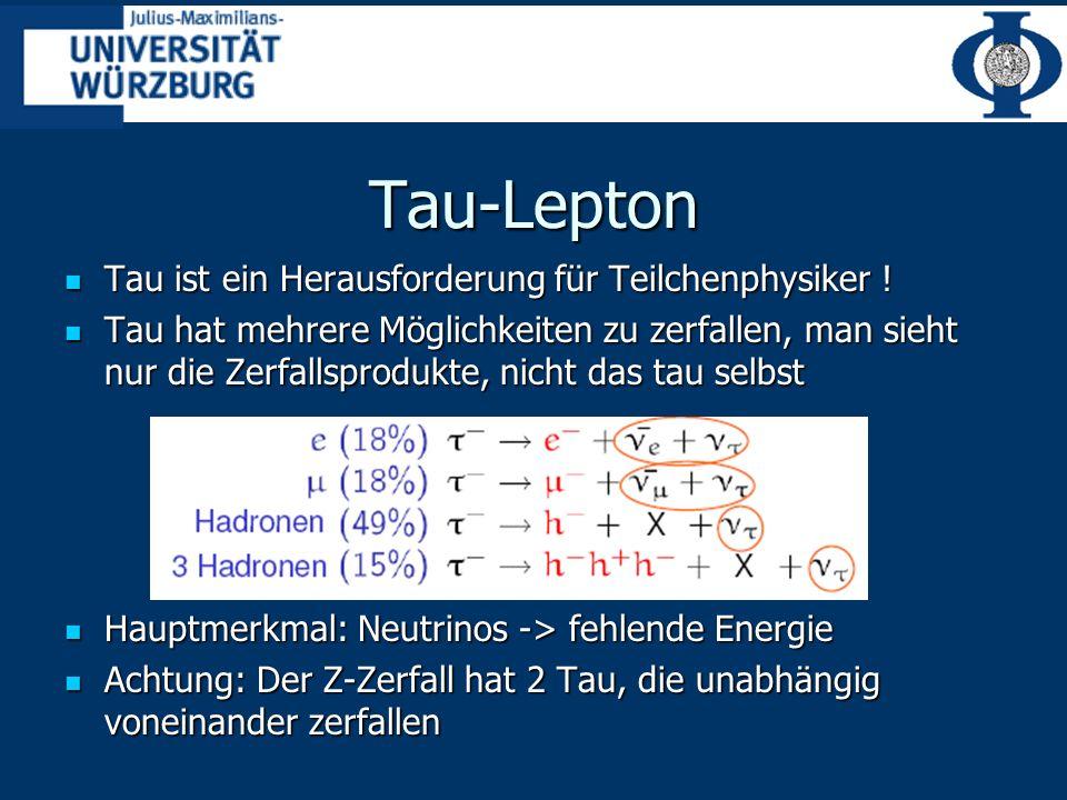 Tau-Lepton Tau ist ein Herausforderung für Teilchenphysiker .