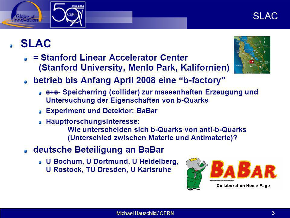 Michael Hauschild / CERN 14 Die ersten Kollisionen bei hohen Energien (2 x 3.5 TeV, 30.3.2010) CMS ALICE LHCb ATLAS