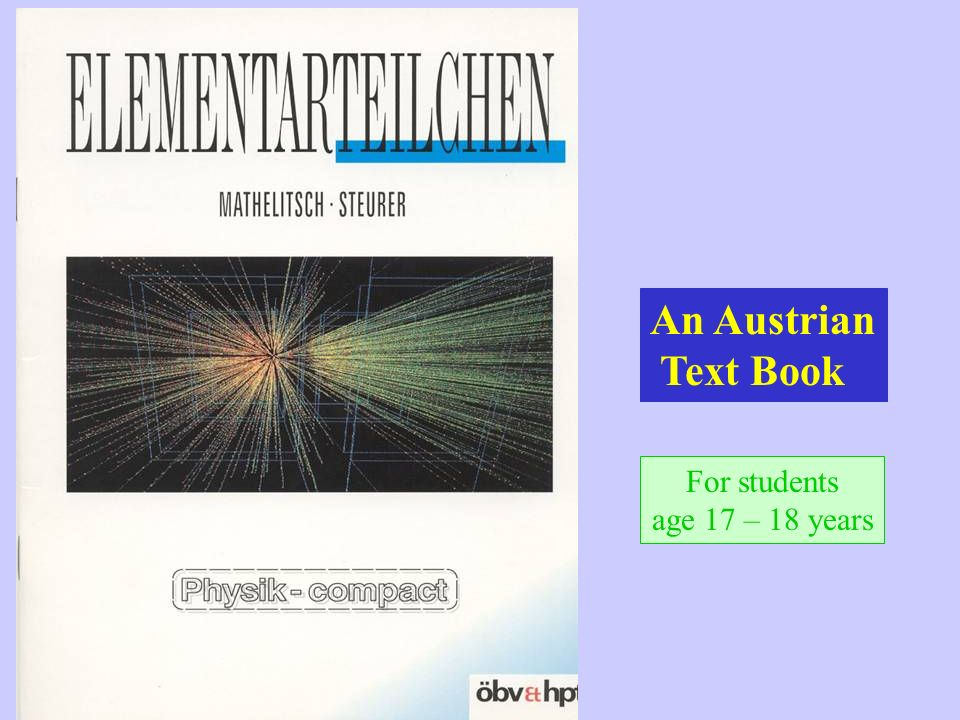 An Austrian Text Book For students age 17 – 18 years