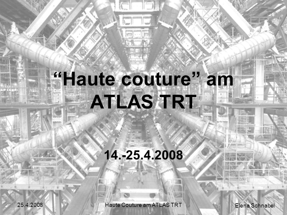 Elena Schnabel 25.4.2008Haute Couture am ATLAS TRT
