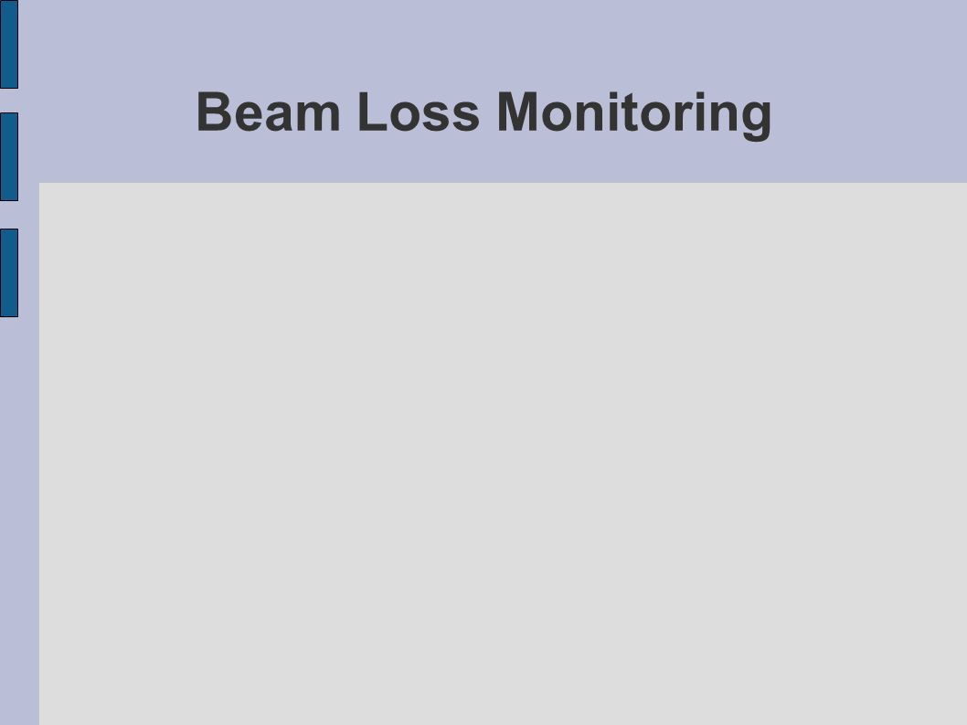 Beam Loss Monitoring