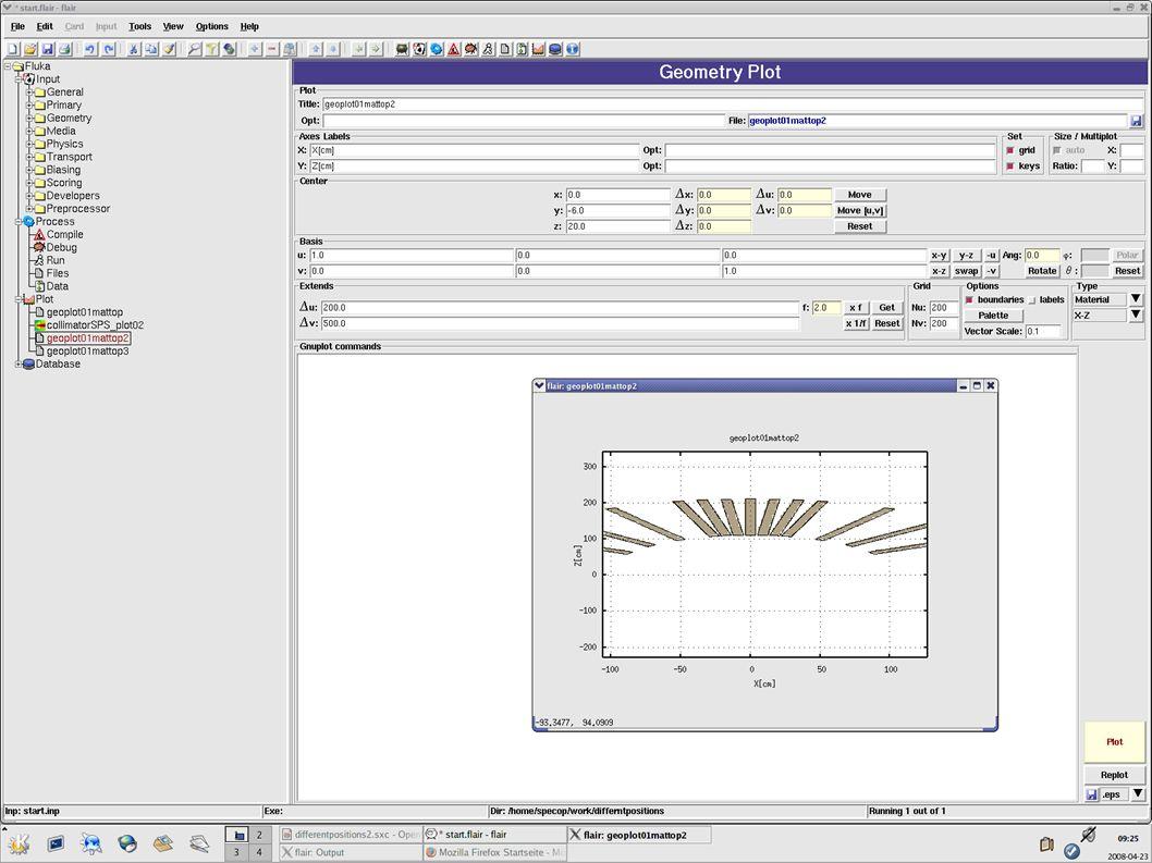 Genereller Aufbau Input: – Definition des zu simulierenden Strahls – Konstruktion der Targets und Detektoren Process: – PC konstruiert den Aufbau anhand der zuvor eingegeben Daten – Durchfuehren der Simulation