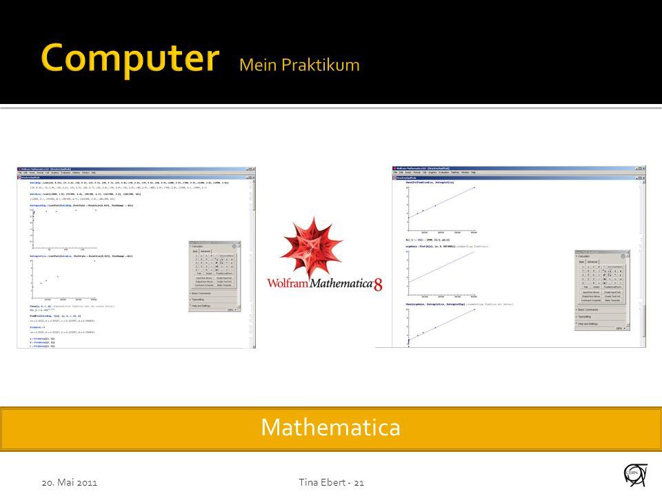 20. Mai 2011Tina Ebert - 21 Mathematica