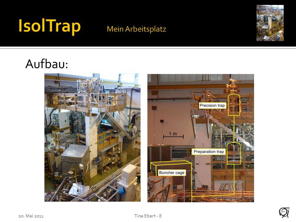 Experimental setup at ISOLDE 20. Mai 2011Tina Ebert - 8 Aufbau: