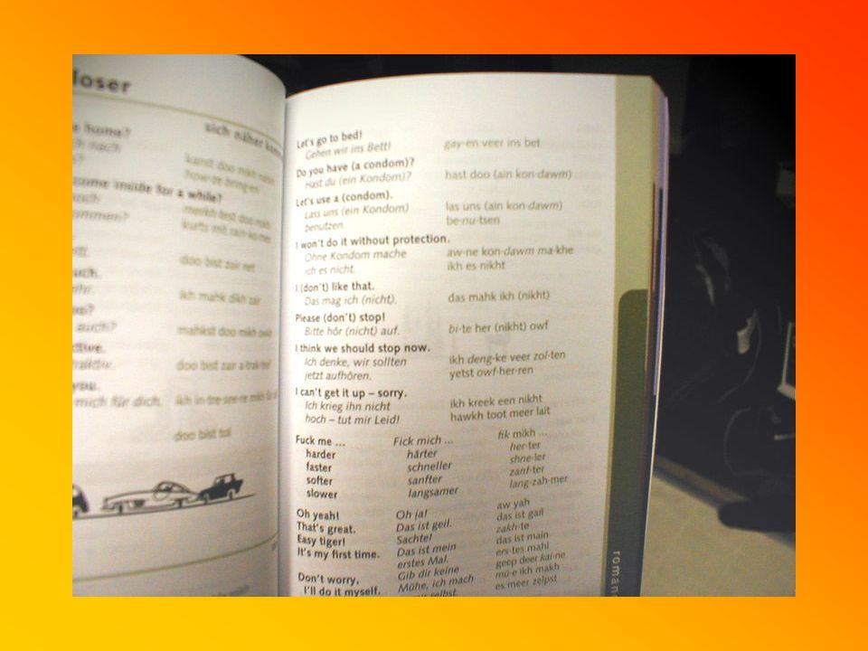 Weiterhin Dritter Tag Doch wozu hat man schließlich ein Wörterbuch dabei.