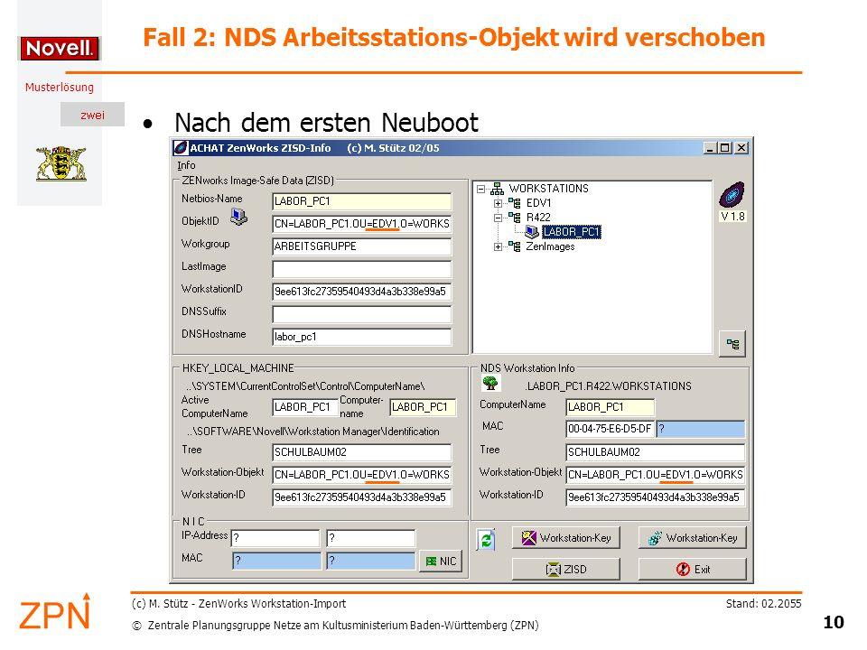 © Zentrale Planungsgruppe Netze am Kultusministerium Baden-Württemberg (ZPN) Musterlösung Stand: 02.2055 10 (c) M.