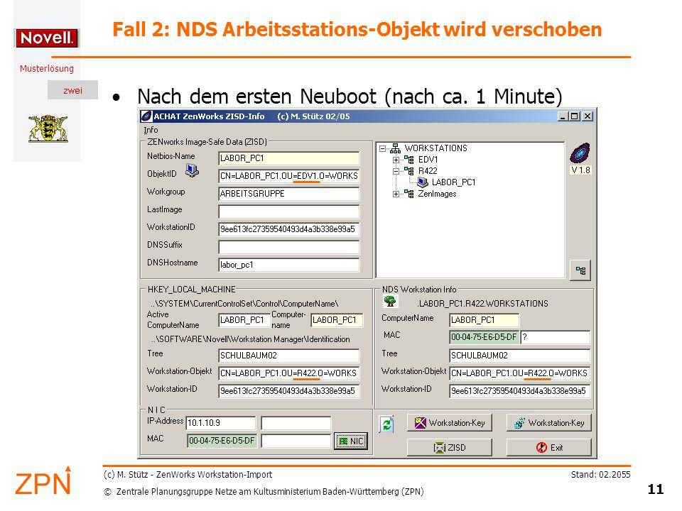 © Zentrale Planungsgruppe Netze am Kultusministerium Baden-Württemberg (ZPN) Musterlösung Stand: 02.2055 11 (c) M.
