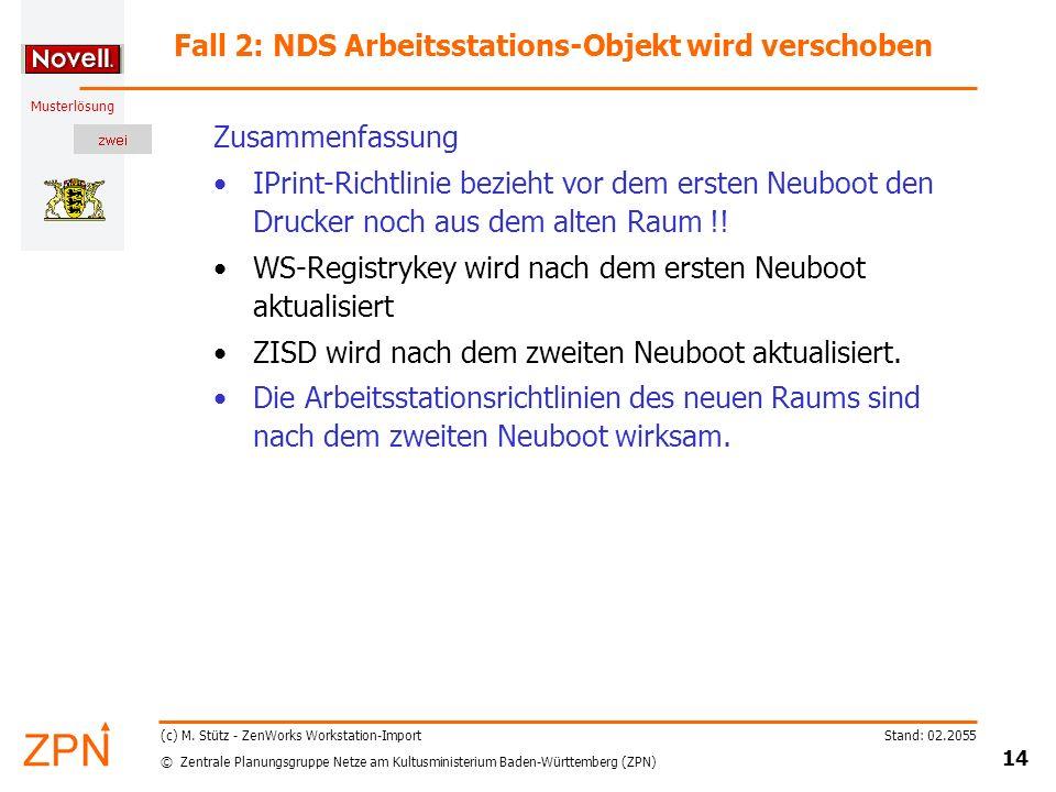 © Zentrale Planungsgruppe Netze am Kultusministerium Baden-Württemberg (ZPN) Musterlösung Stand: 02.2055 14 (c) M.