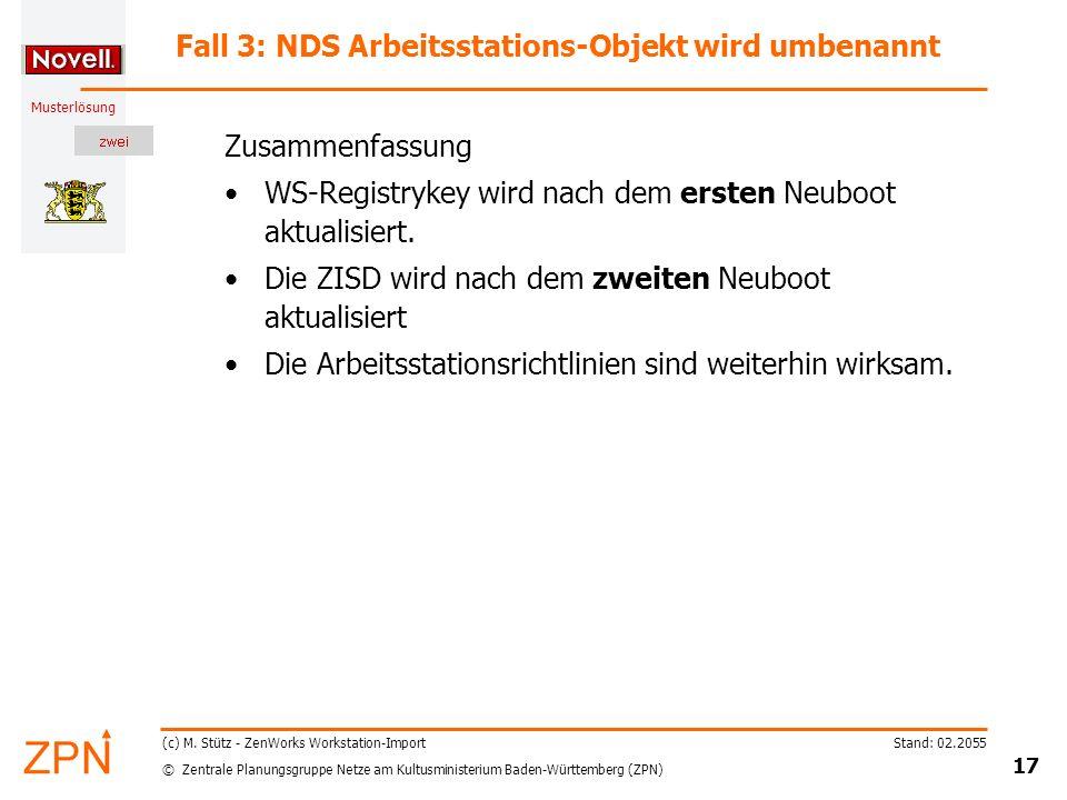 © Zentrale Planungsgruppe Netze am Kultusministerium Baden-Württemberg (ZPN) Musterlösung Stand: 02.2055 17 (c) M.