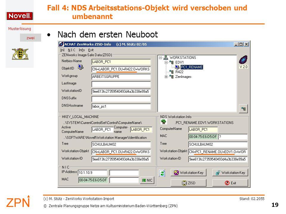 © Zentrale Planungsgruppe Netze am Kultusministerium Baden-Württemberg (ZPN) Musterlösung Stand: 02.2055 19 (c) M.