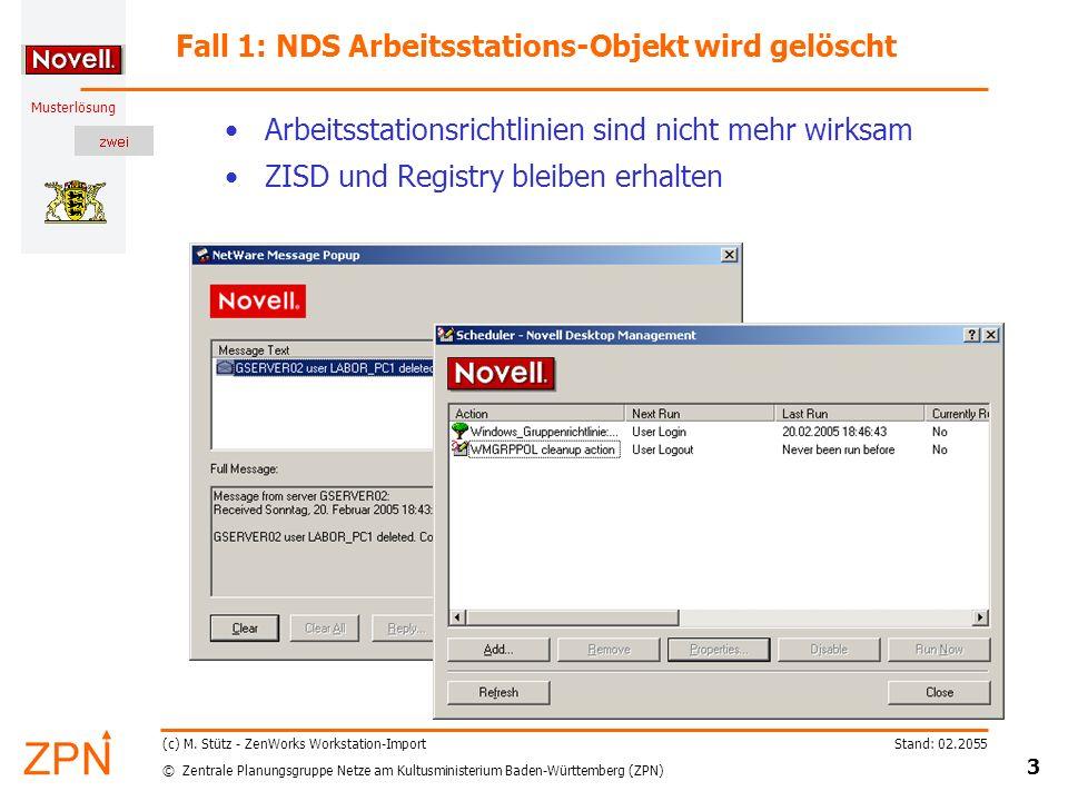 © Zentrale Planungsgruppe Netze am Kultusministerium Baden-Württemberg (ZPN) Musterlösung Stand: 02.2055 24 (c) M.