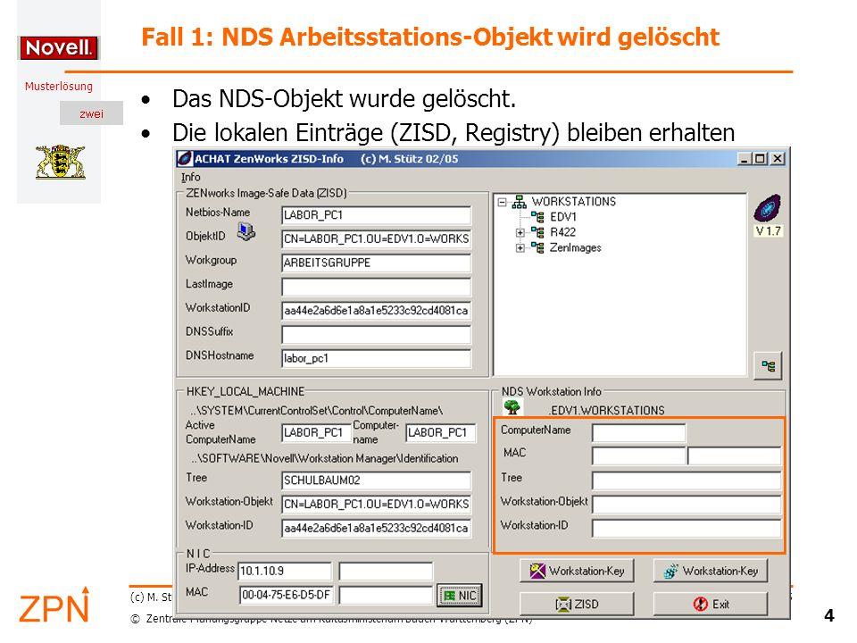 © Zentrale Planungsgruppe Netze am Kultusministerium Baden-Württemberg (ZPN) Musterlösung Stand: 02.2055 25 (c) M.