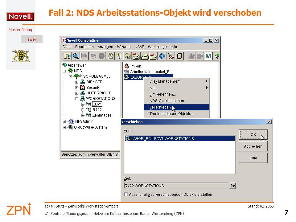 © Zentrale Planungsgruppe Netze am Kultusministerium Baden-Württemberg (ZPN) Musterlösung Stand: 02.2055 18 (c) M.