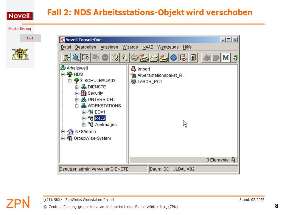 © Zentrale Planungsgruppe Netze am Kultusministerium Baden-Württemberg (ZPN) Musterlösung Stand: 02.2055 9 (c) M.