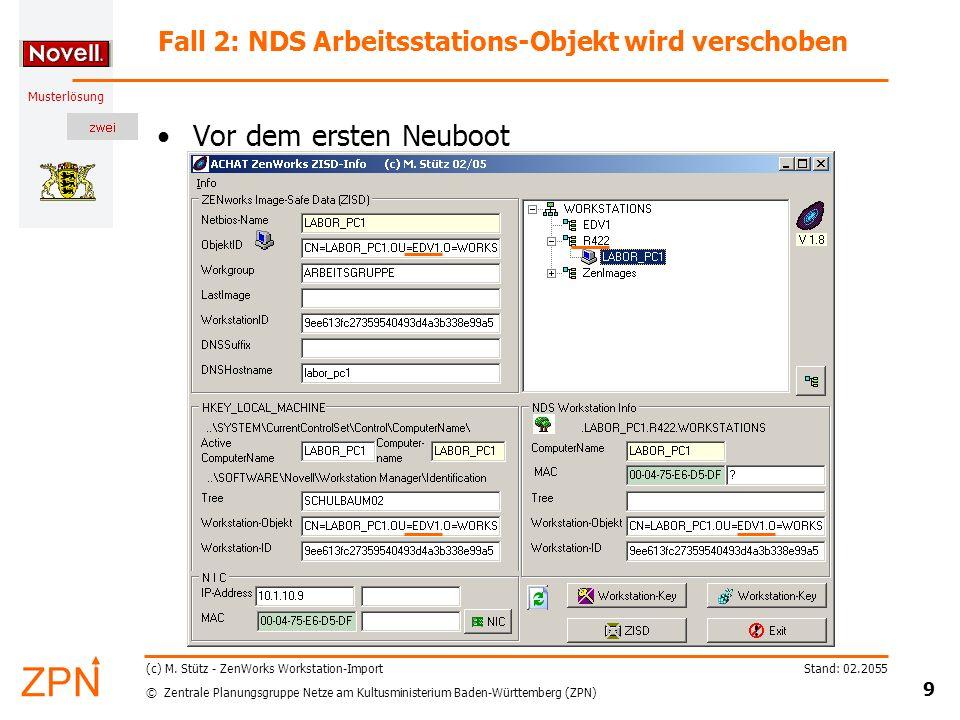 © Zentrale Planungsgruppe Netze am Kultusministerium Baden-Württemberg (ZPN) Musterlösung Stand: 02.2055 20 (c) M.
