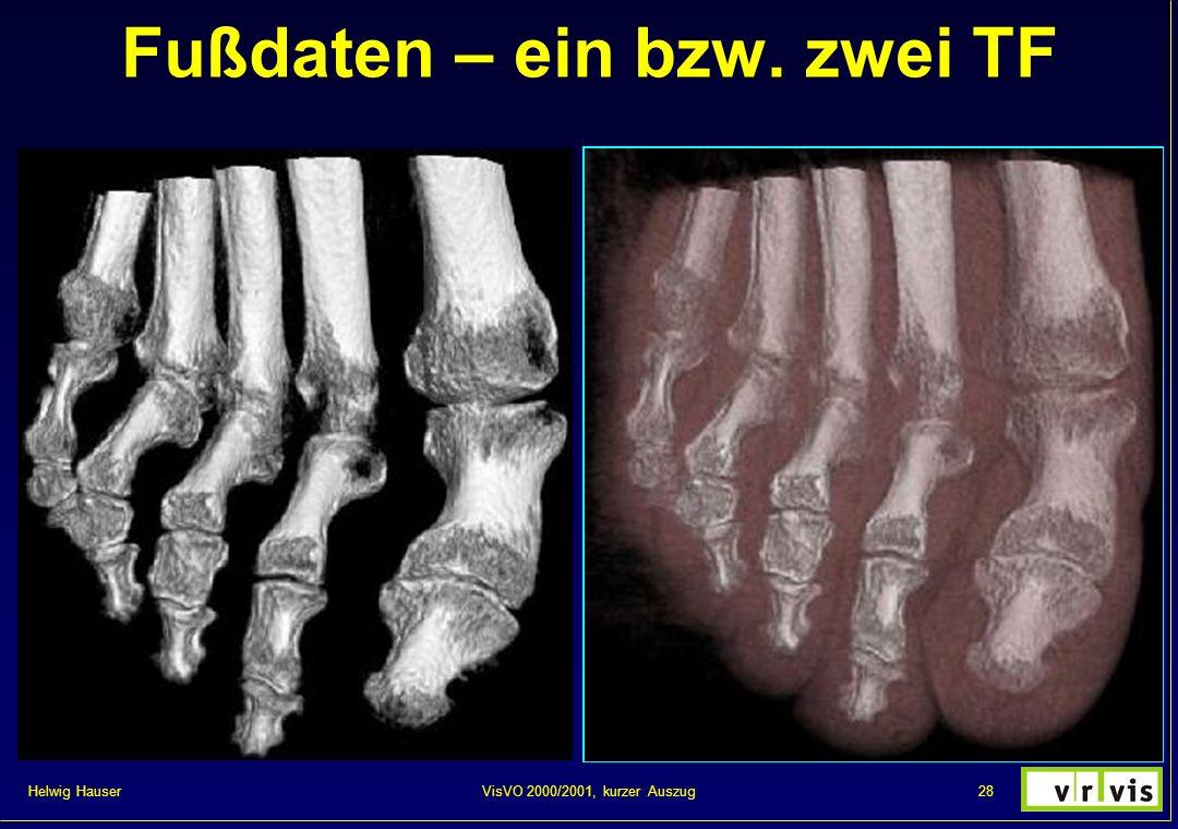Helwig Hauser 28VisVO 2000/2001, kurzer Auszug Fußdaten – ein bzw. zwei TF