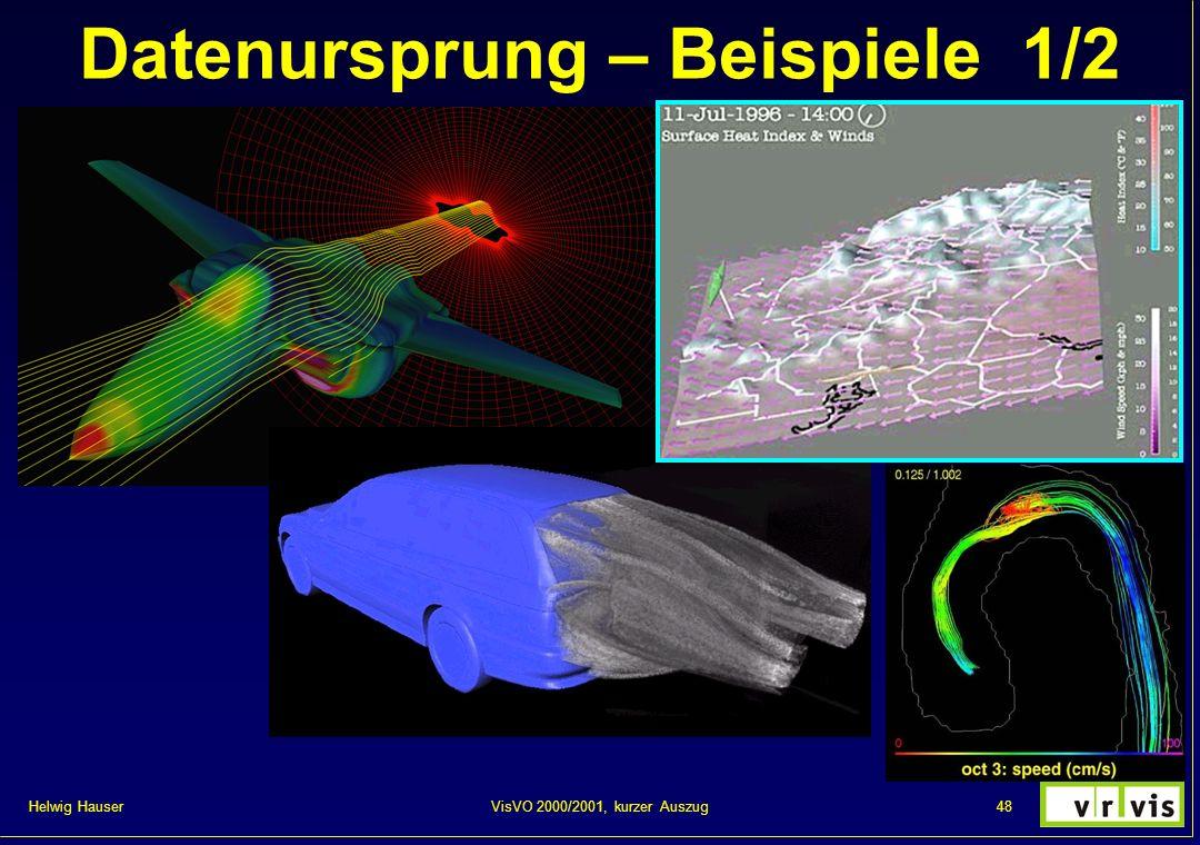 Helwig Hauser 48VisVO 2000/2001, kurzer Auszug Datenursprung – Beispiele 1/2