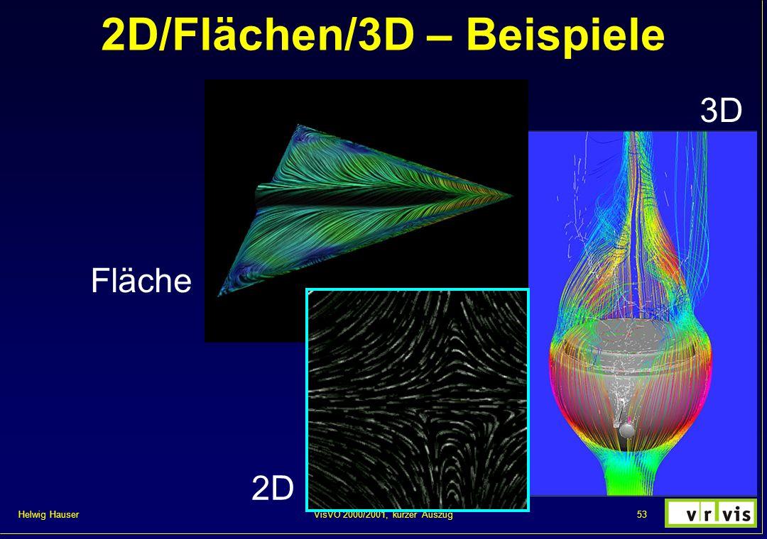 Helwig Hauser 53VisVO 2000/2001, kurzer Auszug 2D/Flächen/3D – Beispiele 2D Fläche 3D