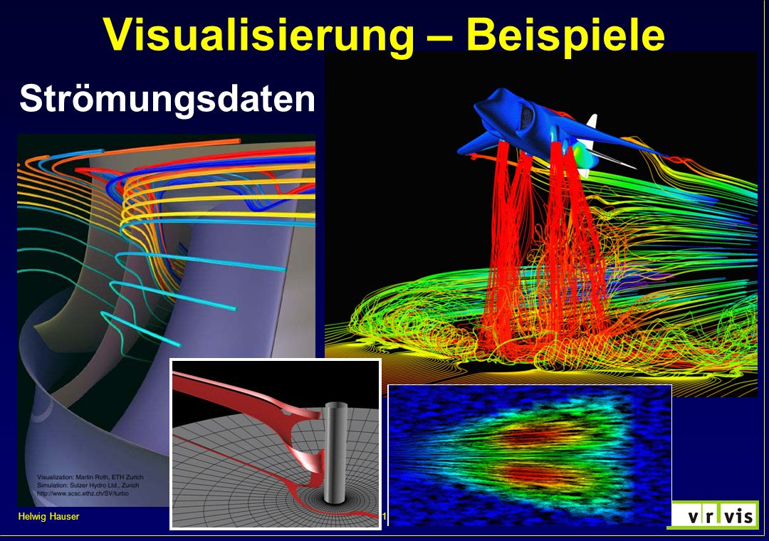 Helwig Hauser 47VisVO 2000/2001, kurzer Auszug Strömungsdatendefinition Simulation: flow: set of samples, z.B.