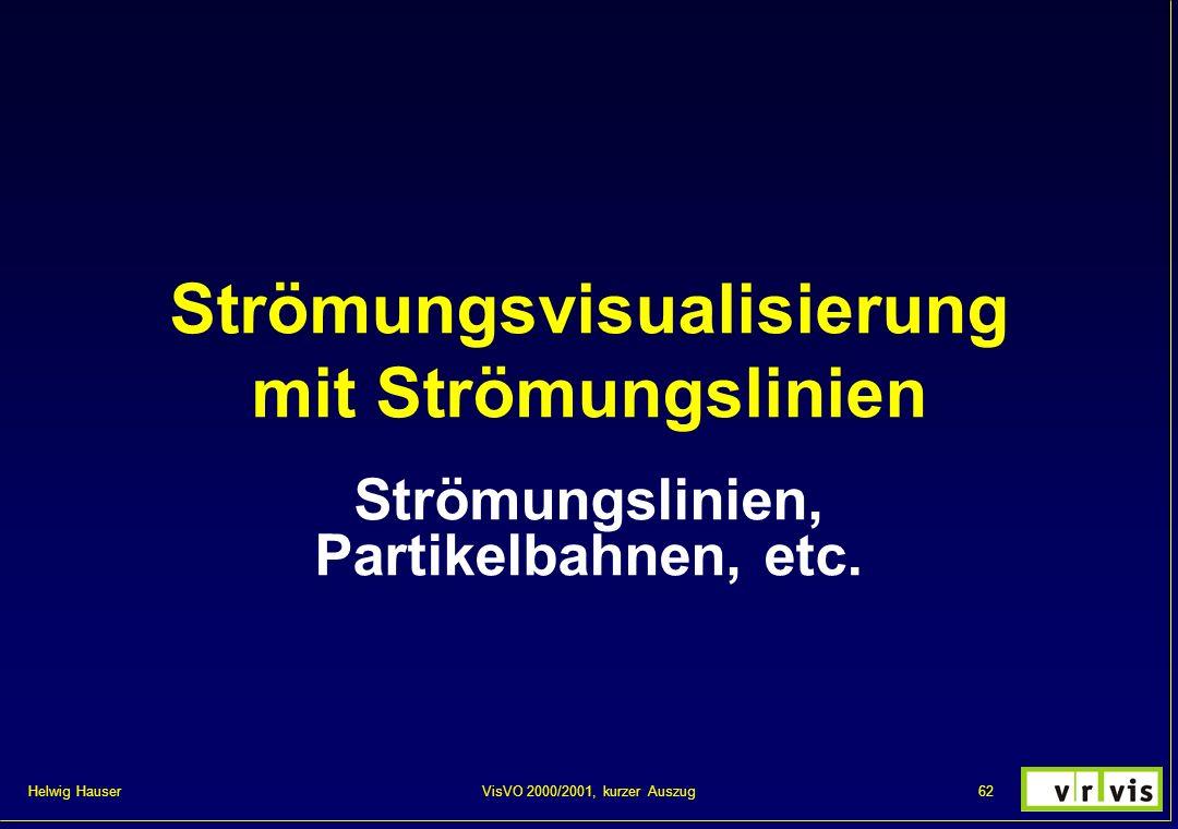 Helwig Hauser 62VisVO 2000/2001, kurzer Auszug Strömungsvisualisierung mit Strömungslinien Strömungslinien, Partikelbahnen, etc.