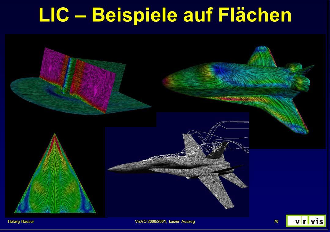 Helwig Hauser 70VisVO 2000/2001, kurzer Auszug LIC – Beispiele auf Flächen