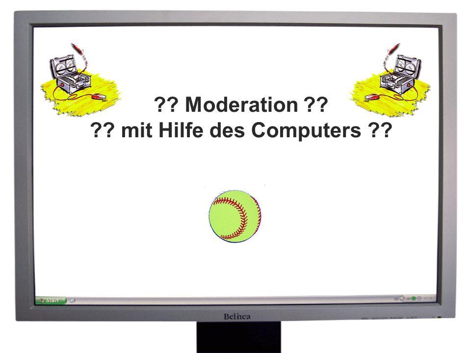 Moderation mit Hilfe des Computers 20-06-2005 -- 13 -- Phasen der Moderation Them en sam meln -Themen bzw.