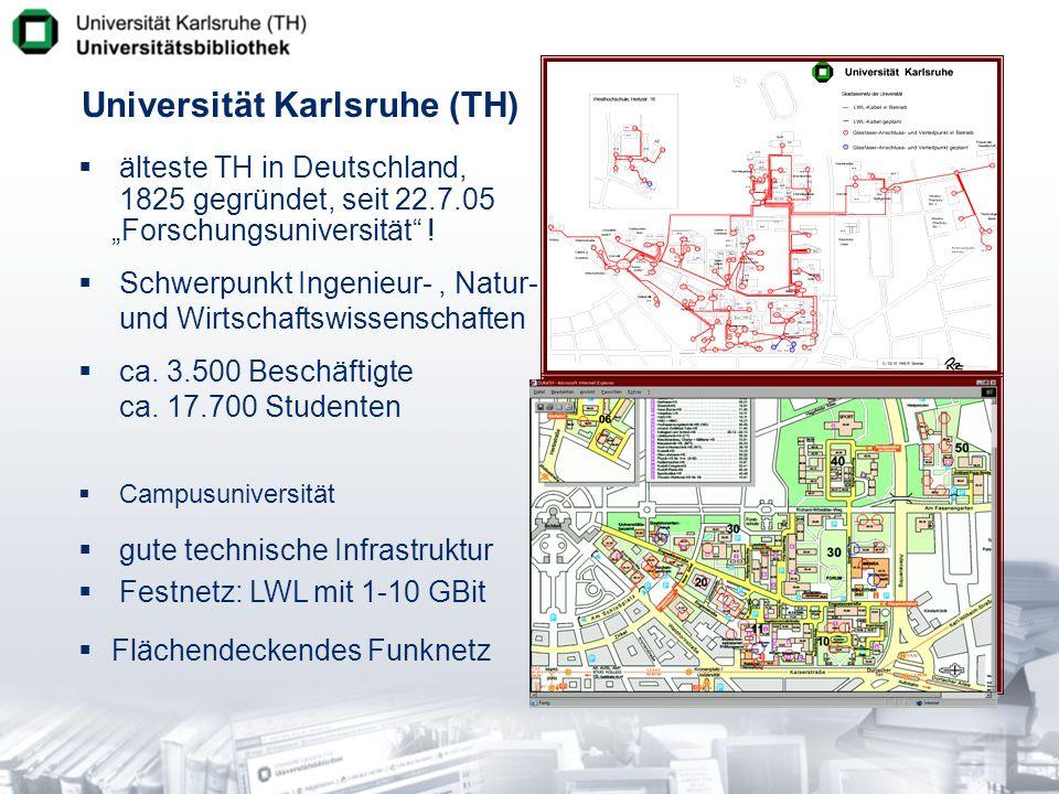 Zentralbibliothek funktional einschichtig Universitätsbibliothek Karlsruhe 12-geschossiger Turmbau Konventionelle Konzeption - -80% Magazinbestand 900.000 Bände - -500.000 Ausleihen Erweiterungsbau ab 2006 - -400.000 Bände Freihand - -7 x 24h-Betrieb - -540 Lesesaalplätze