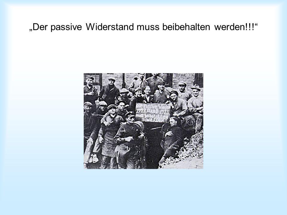 Plakataktionen gegen die Besatzung Nein! Mich zwingt ihr nicht! Hände weg vom Ruhrgebiet!