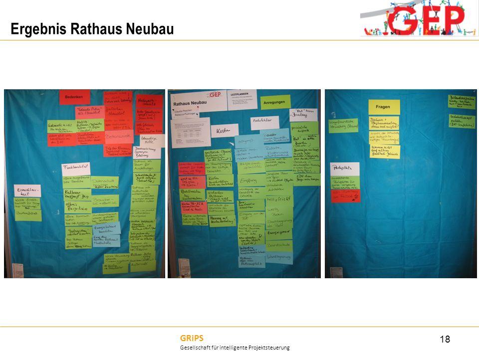 GRiPS Gesellschaft für intelligente Projektsteuerung Ergebnis Rathaus Neubau 18