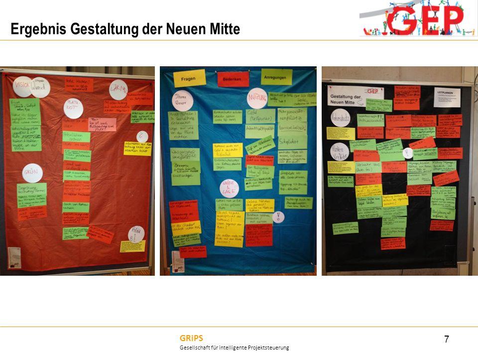 GRiPS Gesellschaft für intelligente Projektsteuerung Ergebnis Gestaltung der Neuen Mitte 7