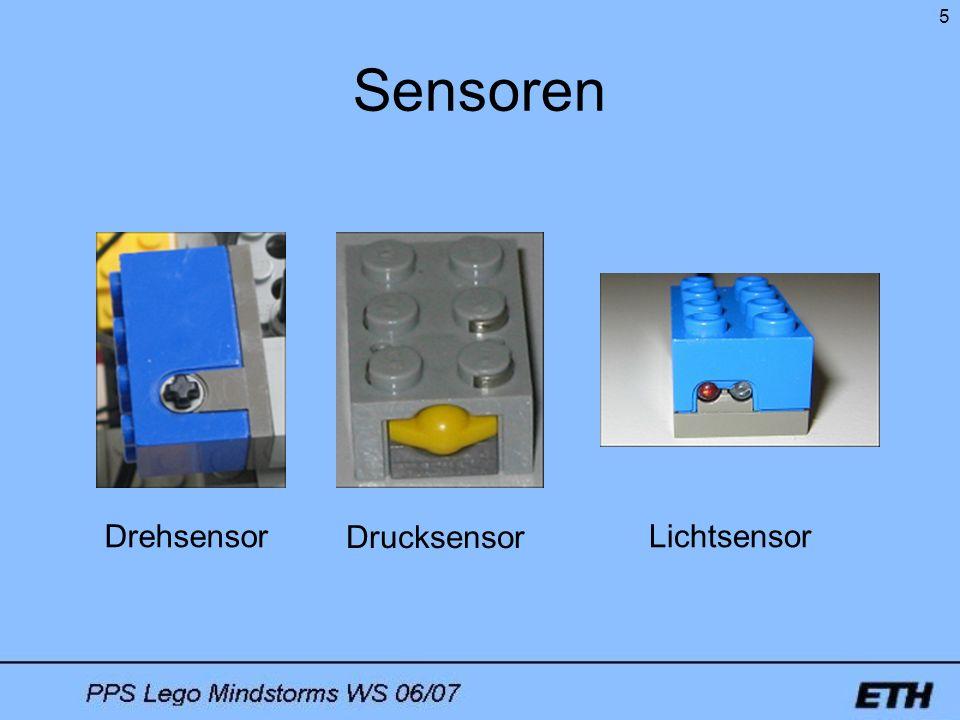 5 Sensoren Drehsensor Drucksensor Lichtsensor