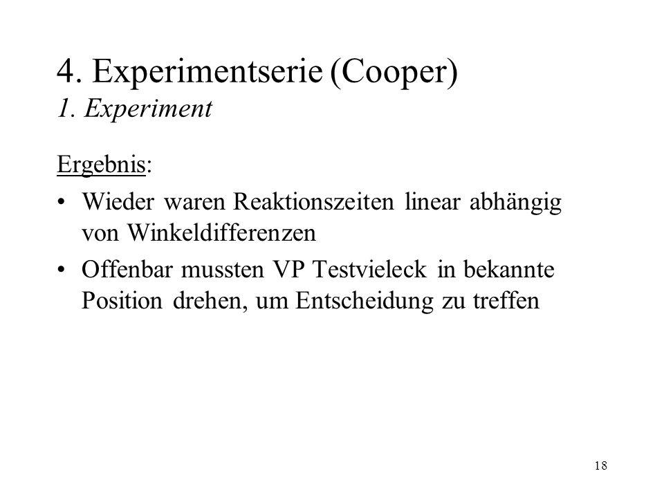 18 4.Experimentserie (Cooper) 1.