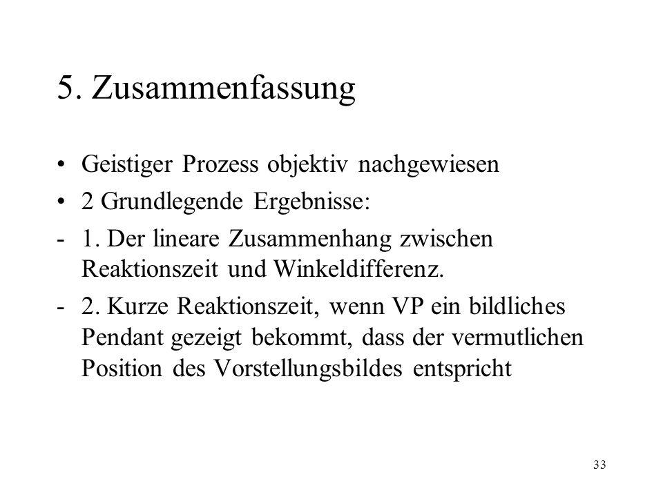 33 5.Zusammenfassung Geistiger Prozess objektiv nachgewiesen 2 Grundlegende Ergebnisse: -1.