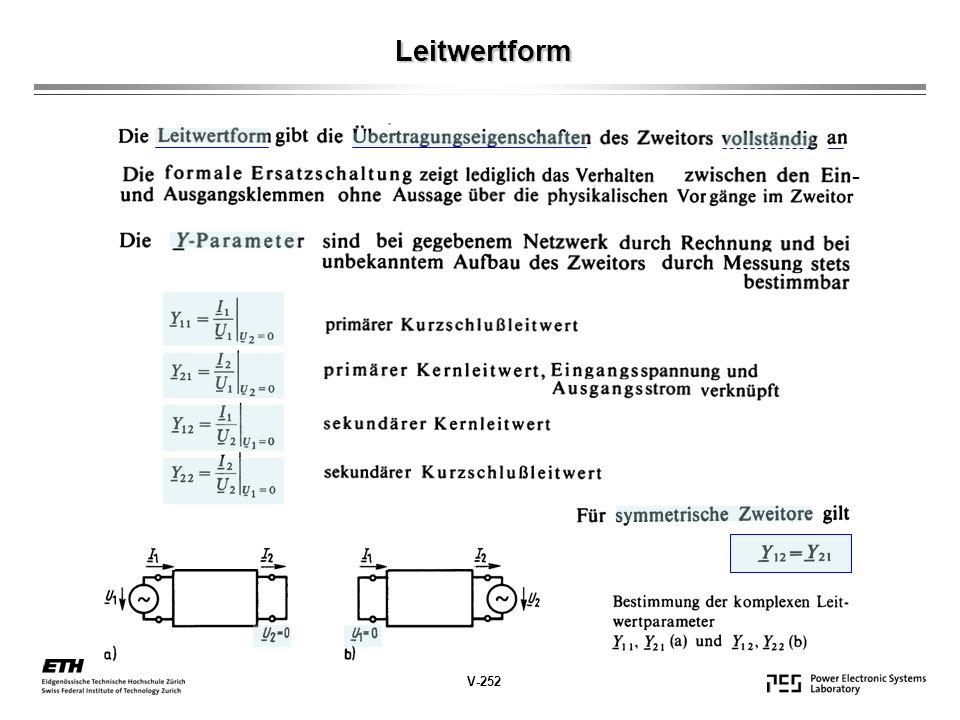 Leitwertform V-252 -
