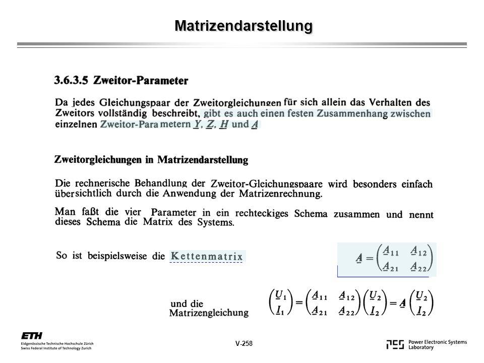 Matrizendarstellung V-258