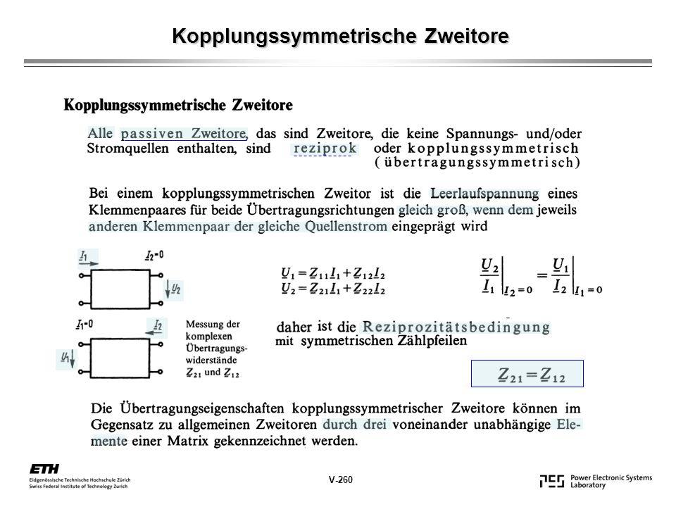 Kopplungssymmetrische Zweitore () V-260