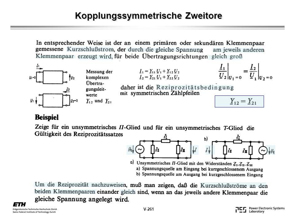 Kopplungssymmetrische Zweitore V-261