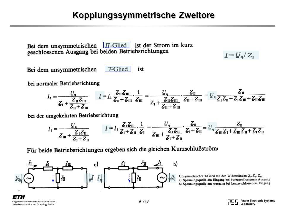 V-262 Kopplungssymmetrische Zweitore