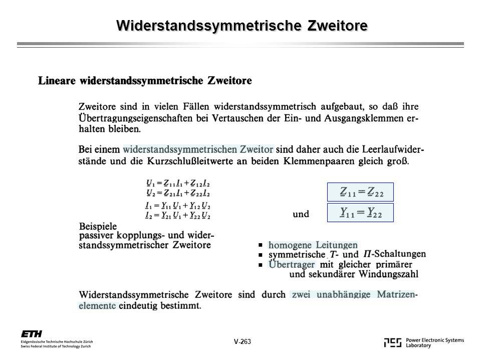 Widerstandssymmetrische Zweitore V-263 -